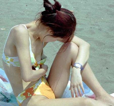 【エロ画像】女性が水着を着て起こすハプニングはなぜエロいのかを知りたくて探した結果を集めてみました 12