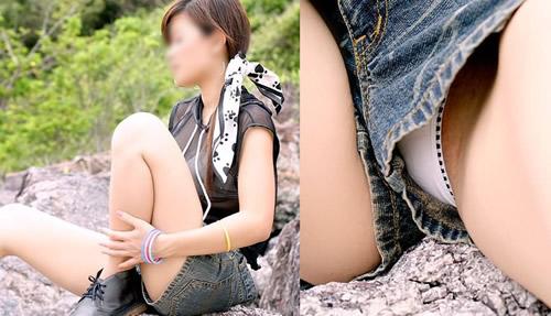 【パンチラ画像】スタイルバツグンの女の子たちのパンチラハプニング画像を集めてみましたww 07