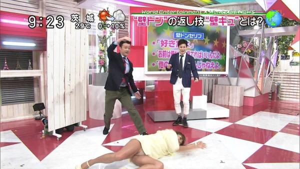 【放送事故画像】テレビに映るちらリズム、まさしく放送事故w