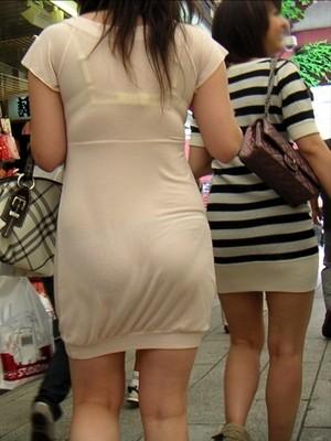 【透け画像】ちょっと待て~い!その服、そのズボン透けて下着見えてません?w 06
