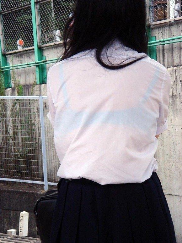 【透け画像】ちょっと待て~い!その服、そのズボン透けて下着見えてません?w 11