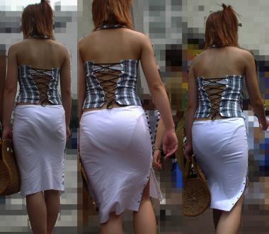 【透け画像】ちょっと待て~い!その服、そのズボン透けて下着見えてません?w 12