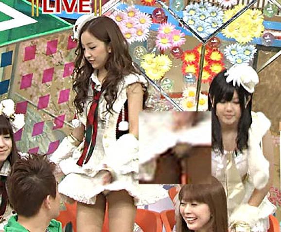 【放送事故画像】テレビで映ってる有名人のパンツが見たい人集合!!