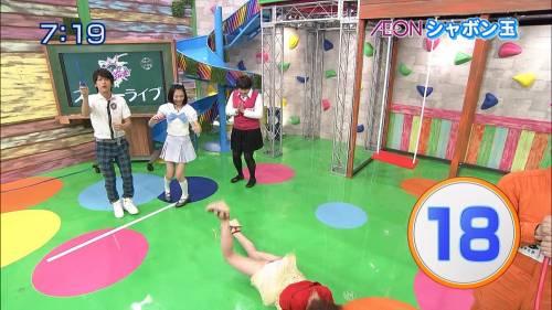 【放送事故画像】自分の恥ずかしい姿をテレビに流される女達! 12