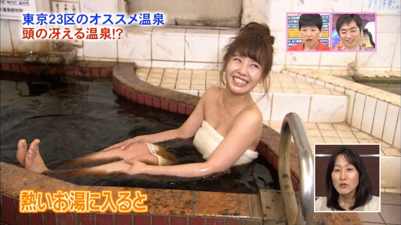 【温泉キャプ画像】バスタオル一枚でテレビに出るタレント達の体がエロすぎやしませんか??ww 08