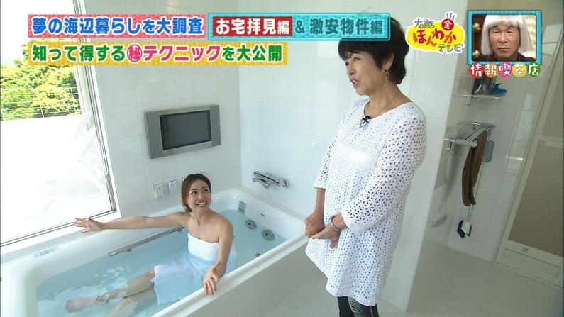 【温泉キャプ画像】バスタオル一枚でテレビに出るタレント達の体がエロすぎやしませんか??ww 21