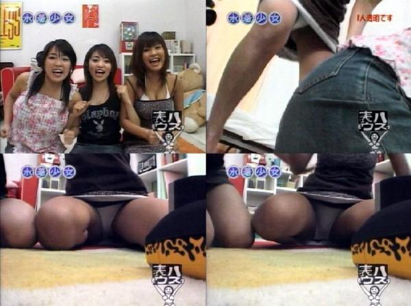 【パンチラキャプ画像】意外とお股のガードが緩い女性タレント達wwww 04