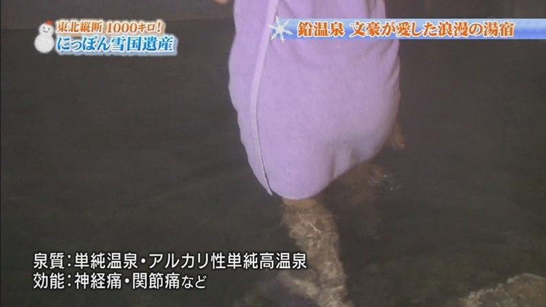 【温泉キャプ画像】お宝満載な温泉レポ!バスタオルからはみ出る巨乳に釘付けww 02