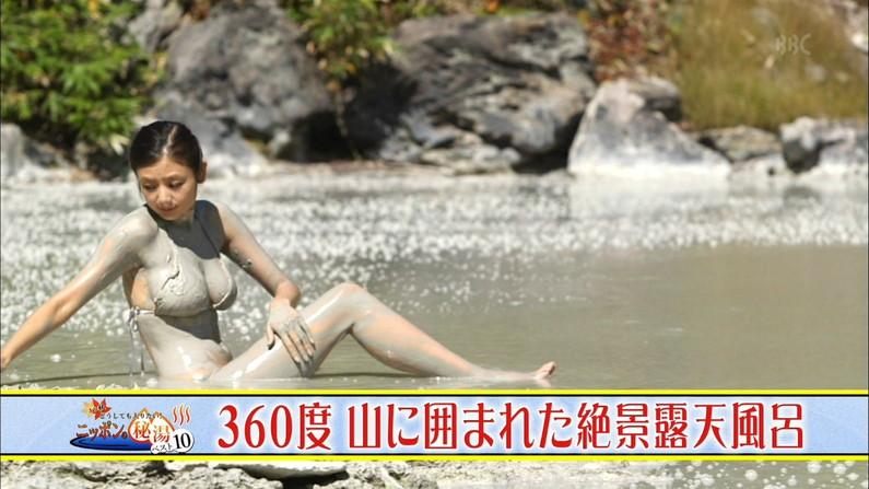 【温泉キャプ画像】お宝満載な温泉レポ!バスタオルからはみ出る巨乳に釘付けww 16