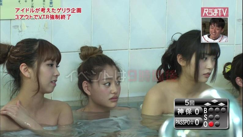 【温泉キャプ画像】ベストポジションにバスタオル巻く芸能人の温泉レポがいやらしすぎるww 22