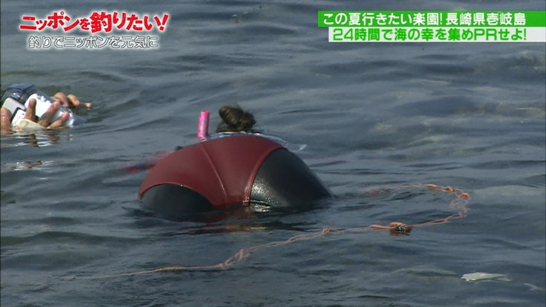 【お尻キャプ画像】テレビに映ったビキニからはみ出る尻肉がムチムチでエロすぎww 14