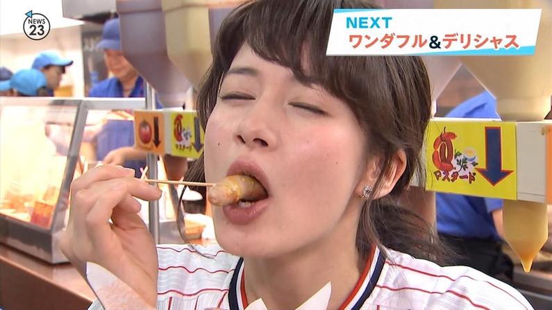【擬似フェラ画像】いやらしいフェラ顔で食レポ!これは欲求不満の表れからなのか?ww