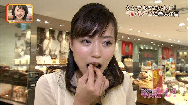 【擬似フェラ画像】いやらしいフェラ顔で食レポ!これは欲求不満の表れからなのか?ww 04