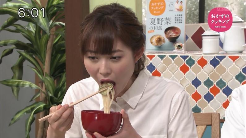 【擬似フェラ画像】いやらしいフェラ顔で食レポ!これは欲求不満の表れからなのか?ww 06