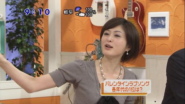 【放送事故画像】脇フェチにはたまらんテレビに映ったアイドルや女子アナ達の脇汗w 01
