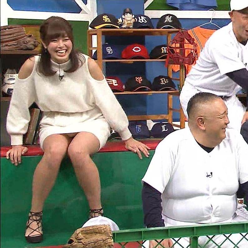 【放送事故画像】テレビでパンチラの期待値が高めな女性タレント達ww 04