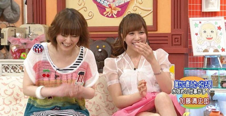 【放送事故画像】テレビでパンチラの期待値が高めな女性タレント達ww 23
