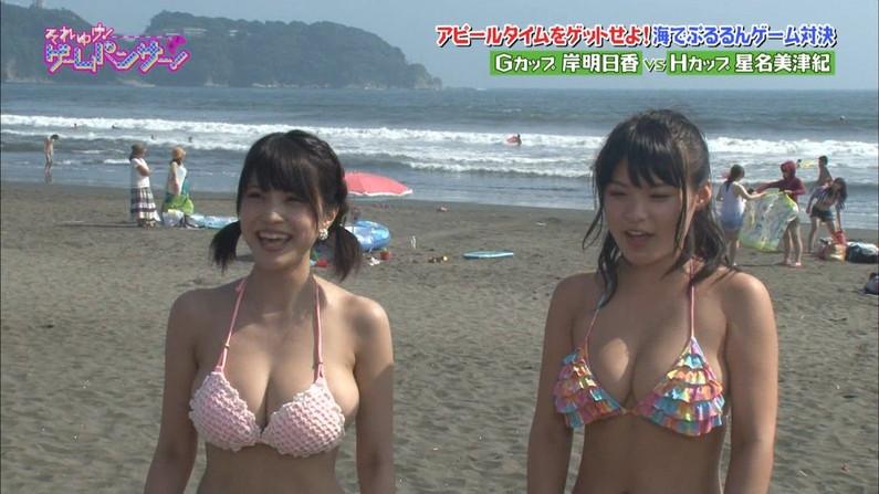 【水着キャプ画像】夏本番!こぞってテレビでも水着美女を紹介し始めましたよwww 24