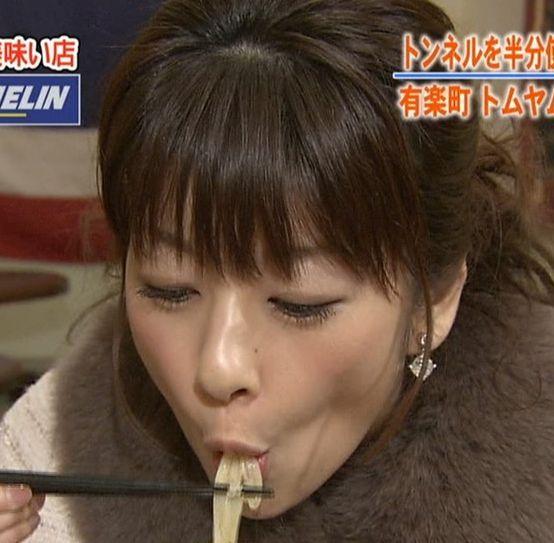【擬似フェラ画像】何か意図的な物を感じさせるタレント達の食レポシーンww 14