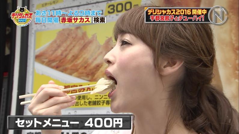 【擬似フェラ画像】何か意図的な物を感じさせるタレント達の食レポシーンww 19