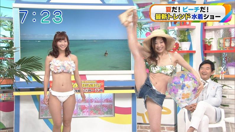 【開脚キャプ画像】己の股間をテレビで晒す変態女達がこちら!!
