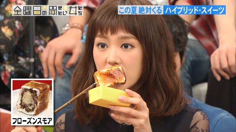 【擬似フェラ画像】食レポやってる女性タレントの口元と表情がエロくておもわず口マンコ犯したくなるww 16