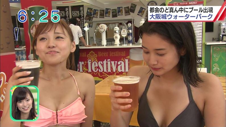 【水着キャプ画像】この夏も美女達のポロリに期待大!危なげな水着美女達がテレビに映るww 08