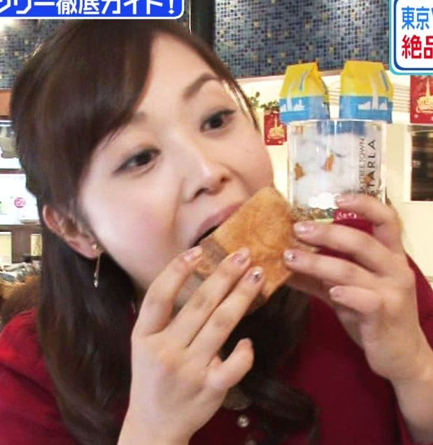 【擬似フェラ画像】完全にエロ目線で見てしまう女子アナ達の食レポシーンwww 03