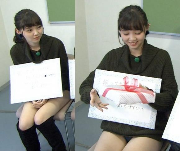 【放送事故画像】テレビでパンツ見せてる女達がこちらですww 13