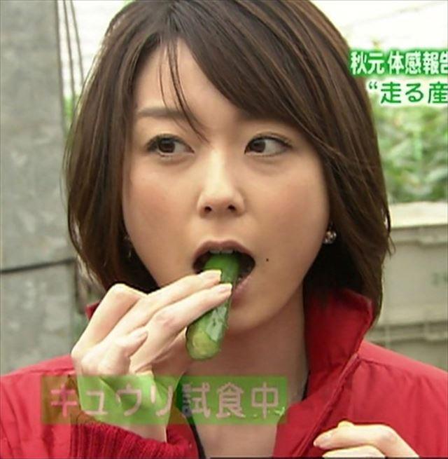 【擬似フェラキャプ画像】性欲の溜まってるタレント達が食レポで卑猥な顔しちゃってるww 12