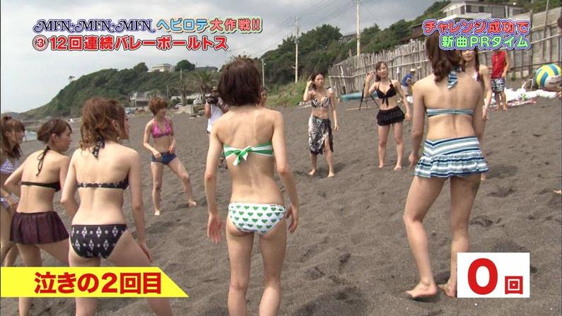 【お尻キャプ画像】水着でテレビに映る美女達の尻肉がはみ出し過ぎてえらいこっちゃやでwww