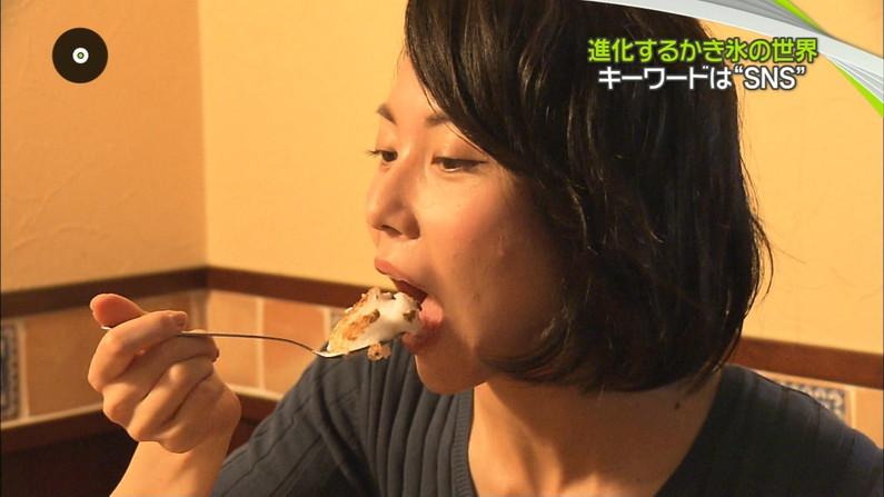 【擬似フェラ画像】この食レポの瞬間だけ夜の顔へと変貌する女性タレント達のエロい顔w 22
