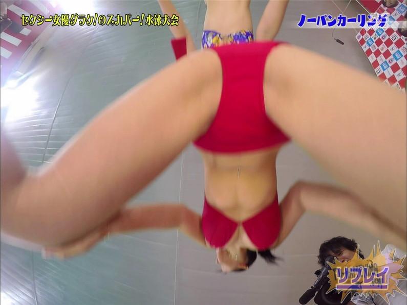 【お宝エロ画像】スカパー水泳大会でアナルが映っちゃってるぞwww(ノーパンカーリング編) 15