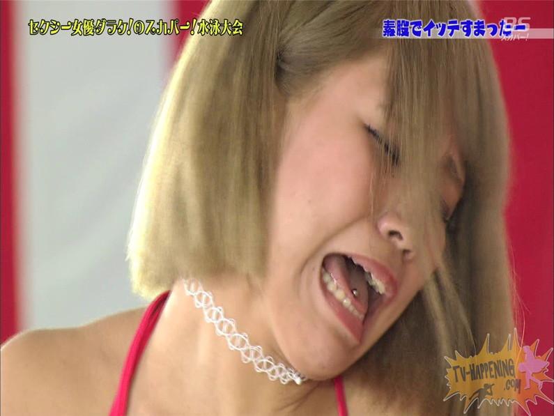 【お宝エロ画像】スカパー女優だらけの水泳大会でクリトリス擦られた女優がアヘ顔なっちゃってるww(素股でイッテすまったー編) 39