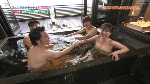 【お宝放送画像】テレビに映ったちょっとエロい入浴シーン!! 19