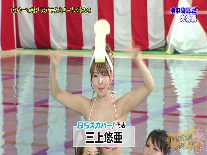 【お宝エロ画像】女優だらけのスカパー水泳大会!乳首映りまくりでもはや笑うしかないww(水中騎馬戦編) 51