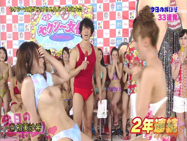 【お宝エロ画像】女優だらけのスカパー水泳大会!乳首映りまくりでもはや笑うしかないww(水中騎馬戦編) 71