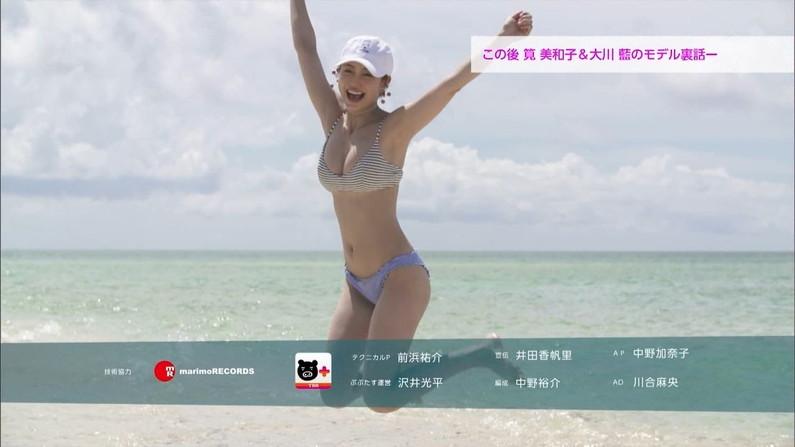 【水着キャプ画像】素人からアイドルまで、この時期巨乳美女の水着姿が見放題ww 22