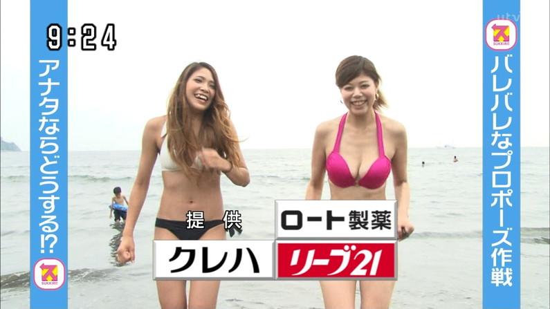 【水着キャプ画像】この時期テレビ局は水着美女のオッパイで視聴率上げまくるww 13