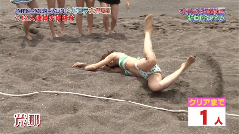 【開脚放送事故画像】アイドル達がお股広げたその瞬間、股間をドアップで映すとこうなったww 04