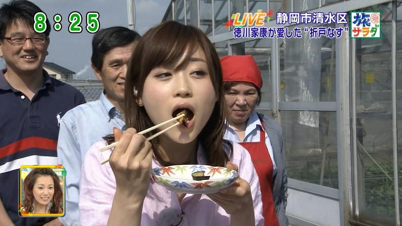 【擬似フェラキャプ画像】女子アナやアイドルって食レポの時にわざとこんなエロい顔してるのか?ww 05