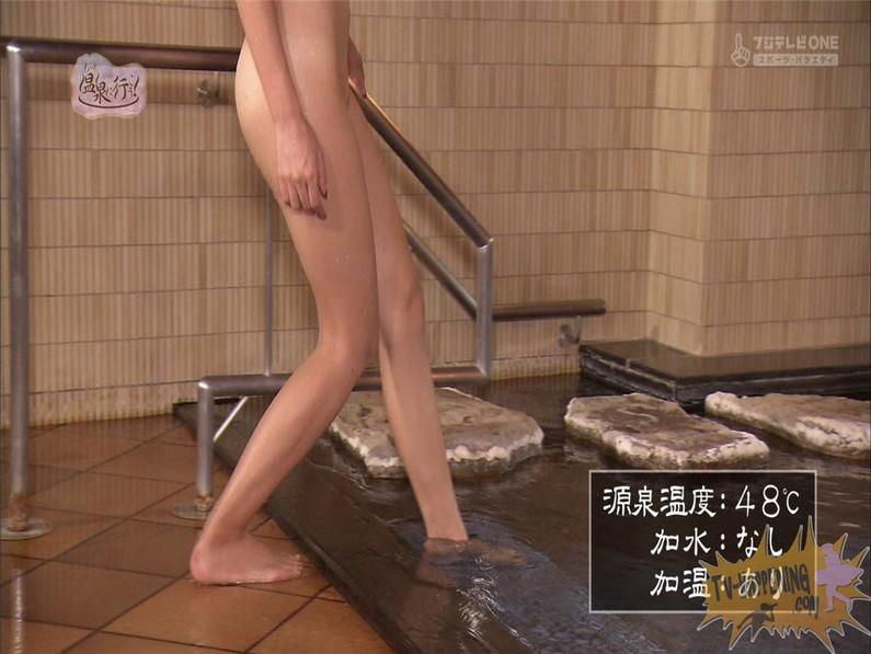 【お宝エロ画像】美女の脱衣シーンから、お尻丸出しでテレビに出ちゃう有能番組もっと温泉に行こう! 25