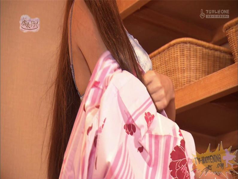 【お宝エロ画像】美女の脱衣シーンから、お尻丸出しでテレビに出ちゃう有能番組もっと温泉に行こう! 51