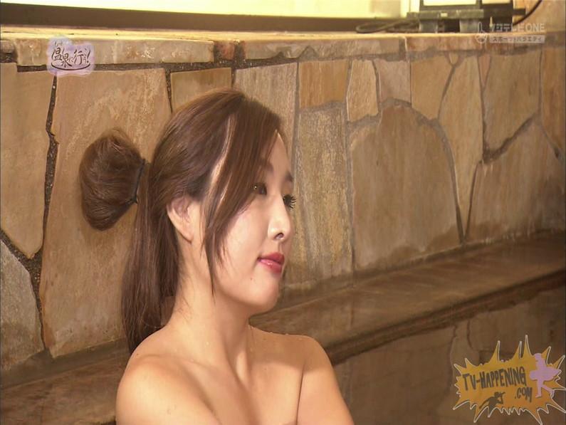 【お宝エロ画像】美女の脱衣シーンから、お尻丸出しでテレビに出ちゃう有能番組もっと温泉に行こう! 63