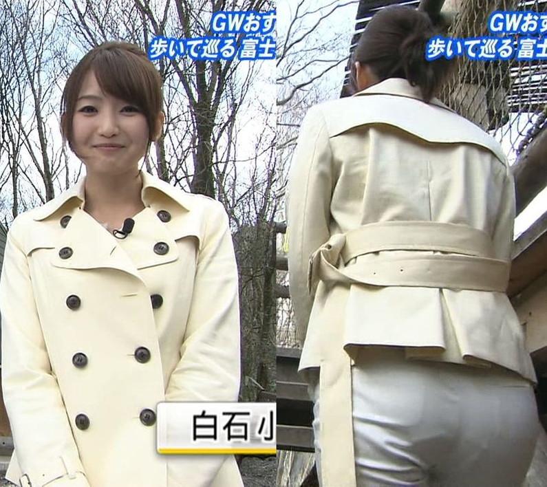 【お尻キャプ画像】お尻にフィットし過ぎたズボンがヒップラインを際立たせるwパン線まで浮いちゃってる女子アナまでw 19