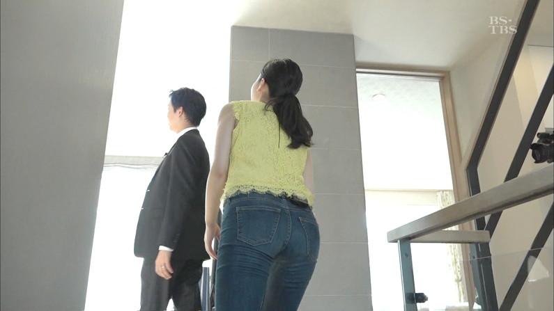 【お尻キャプ画像】お尻にフィットし過ぎたズボンがヒップラインを際立たせるwパン線まで浮いちゃってる女子アナまでw 23