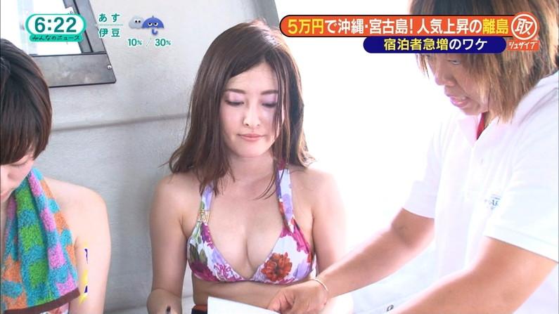 【水着キャプ画像】素人から女子アナやアイドルまでテレビでエロい水着でオッパイ強調しまくりンゴww 11