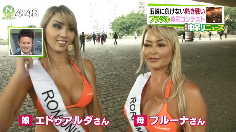 【水着キャプ画像】素人から女子アナやアイドルまでテレビでエロい水着でオッパイ強調しまくりンゴww 18