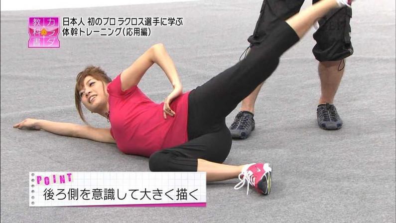 【マン筋放送事故画像】タレント達の股間をアップで撮ったら、食い込みまくっててマン筋ばっちり映っちゃったww 21
