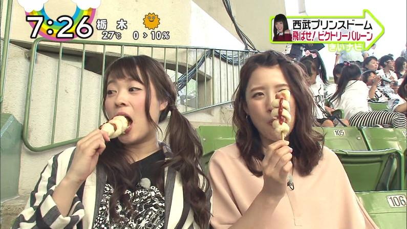 【擬似フェラキャプ画像】やらしいフェラ顔で食レポしちゃうドスケベな女子アナやアイドル達ww 06